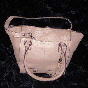 Tignanello pink metallic bag